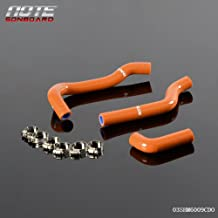 Silicone Radiator Coolant Hose Kit Clamps For KTM 65SX 2002-2008 Dark Orange