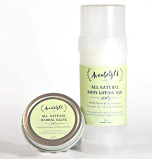 All Natural Body Lotion for Dry Skin | Essential Oil Lotion Bar (2oz) &