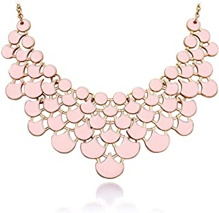 nude pink necklace