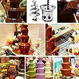 Edelstahl Schokoladenbrunnen, Schokobrunnen | Schokofontäne | Fondue | Schokofondue für Jede Schokolade und Karamell mit Schmelz-und Fließfunktion, 170 Watt - 2