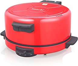 ماكينة صنع البيتزا وخبز الروتي والتورتيلا من ساتشي، مقاس 40 سم - موديل Nl-rm-4980، لون احمر