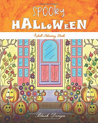 Spooky Halloween: Adult Coloring Book