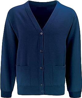 Skooleez School Uniform Fleece Sweat Cardigan Royal Blue 9-10 Years