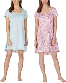 Jane and Bleecker Ladies' Henley Sleepshirt, 2 Pack