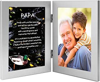 Poetry Gifts Gift for Papa, Sweet Poem from Grandchild, Add Photo