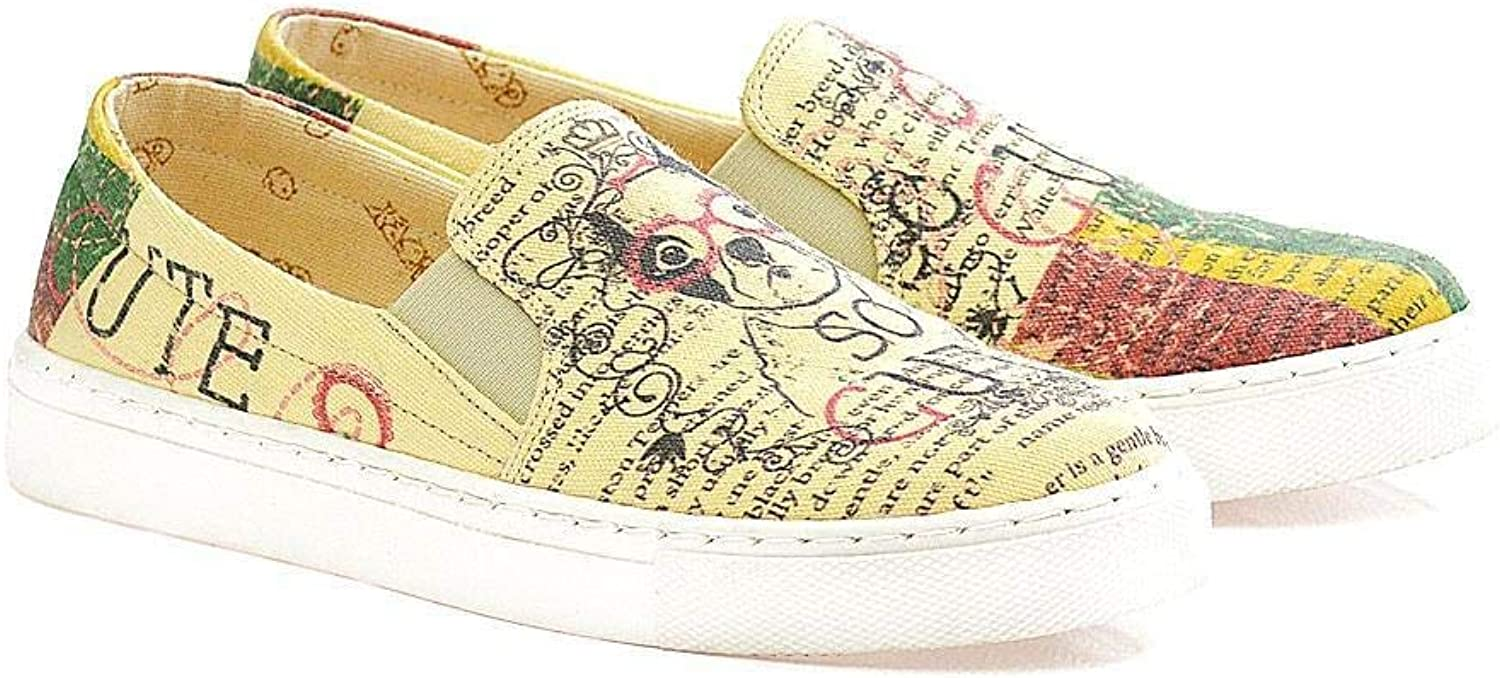 GOBY Women's shoes ''Cute Puppy Slip-On Sneaker-Textile VN4408