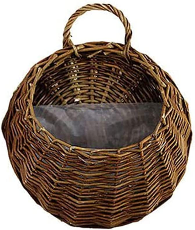 35% OFF yuxinger Handmade Woven Super beauty product restock quality top Basket Natural Wicker Hanging Wa Planter
