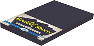 FIS Black Binding Sheet 240 gsm Pocket of 100 pieces - FSBD240A4BK