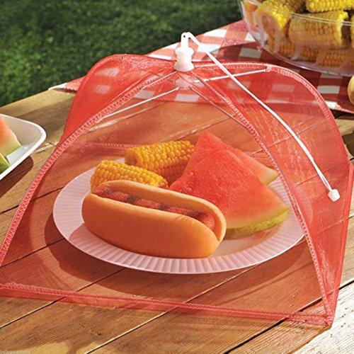 3 Cloche protège alimentaire en tissu 30cm x 30cm x 20cm