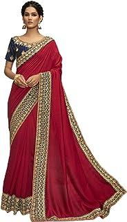 بلوزة ساري ساري فاخرة من حرير شانديري مطرز بألوان متعددة مصممة هندية بتصميم مطرز ومطرز ووجه حجري من الساري 6053