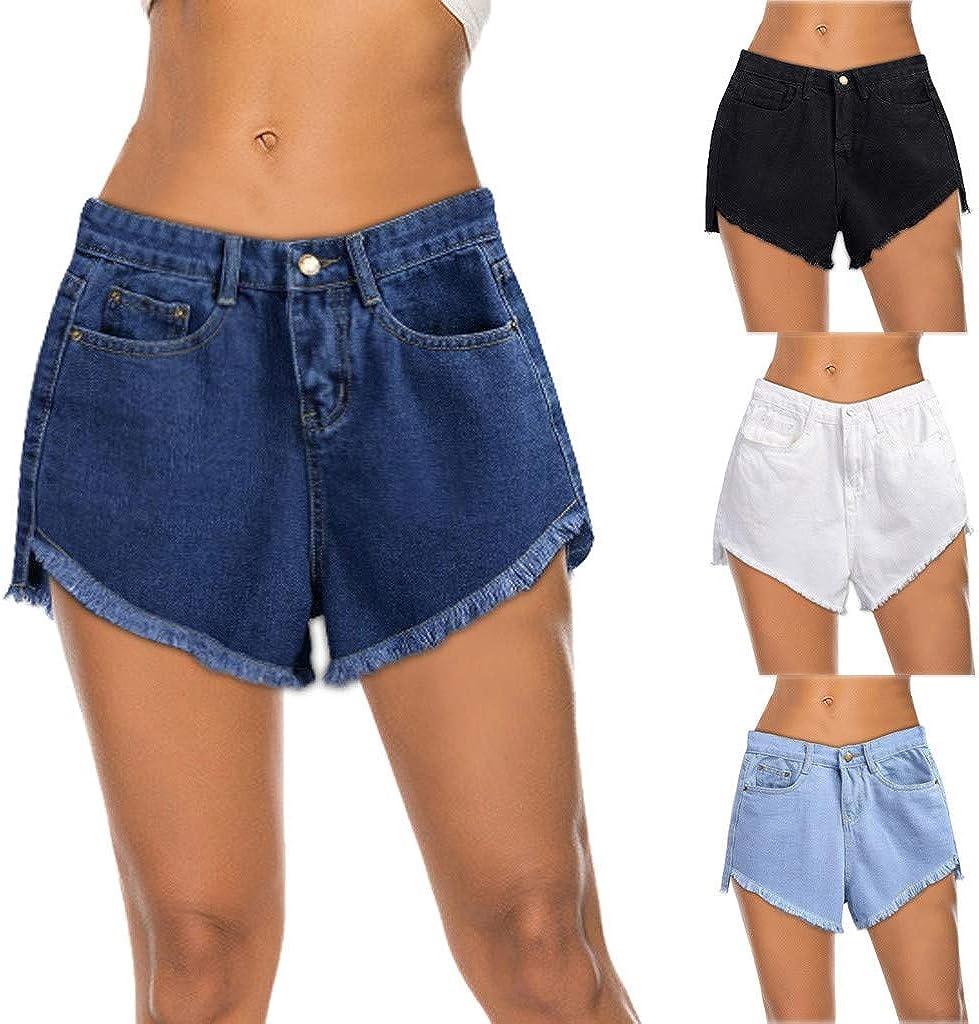 Women Sexy Denim Shorts High Waist Hot Shorts Frayed Boyfriend Jeans Cutoff Short Summer Pants Trousers