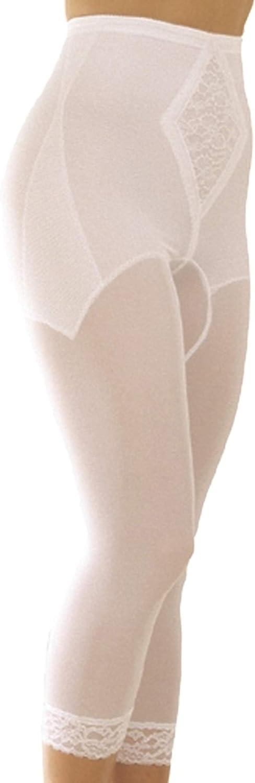 Rago Women's Medium Shaping Support Legging, White, 8X-Large (46)