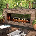 White Mountain Hearth by Empire Carol Rose 48-Inch Vent Free Propane Gas Outdoor Linear See-Through Fireplace W/Manual Electronic Ignition & LED Light System - OLL48SP12SP
