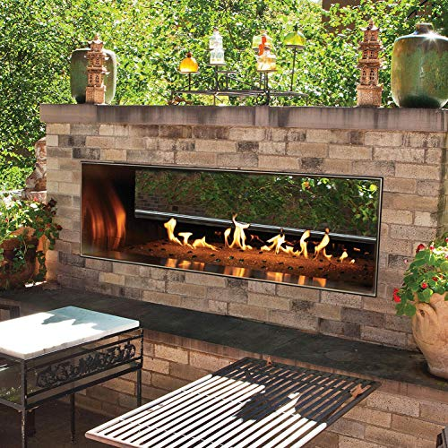 Lowest Prices! Empire Comfort Systems Outdoor 60 SS Manual See-Through Linear Fireplace - Propane