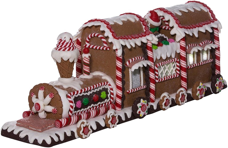 Kurt Adler 19.5  Battery-Operated Gingerbread LED Train Tablepiece