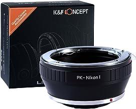 Adaptador de Montaje de Lente de K&F Concept® para Montar la Lente Pentax K en la Cámara Nikon 1 Adaptador para J1 V1 PK-Nikon 1