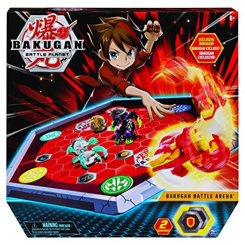 Bakugan Battle Arena, umrandetes Spielfeld mit exklusivem Pyrus Phaedrus Bakugan