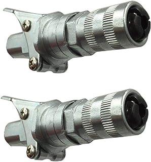 Pistola de Engrase Acoplador con Kit de Mantenimiento,ZARLLE Acoplador de Grasa Tipo de Abrazadera de fijación Duradera Metal de liberación rápida para Grasa - Fácil de Encajar, de Encajar