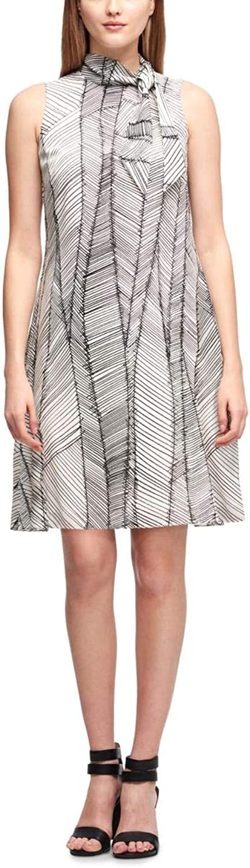 Inc Womens Trapeze TieNeck Casual Dress