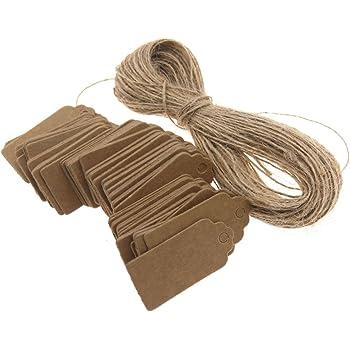 500 Pcs blanc Strung Marquage Tags inscriptibles /étiquettes daffichage pour les produits /étiquette avec cha/îne