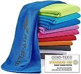 Fit-Flip Kühlendes Handtuch 100x30cm, Mikrofaser Sporthandtuch kühlend, Kühltuch, Cooling Towel,...
