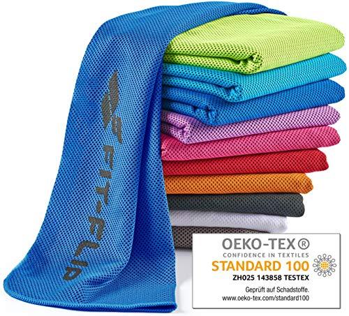 Fit-Flip Kühlendes Handtuch 100x30cm, Mikrofaser Sporthandtuch kühlend, Kühltuch, Cooling Towel, Mikrofaser Handtuch  Farbe: dunkelblau, Größe: 100x30cm