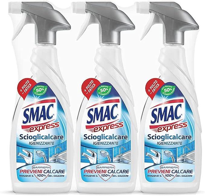 40 opinioni per Smac Express- Scioglicalcare Igienizzante Spray, Detergente Anticalcare Bagno
