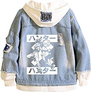 Yesgirl Hunter X Hunter Killua kurtka męska, damska, Hoodie Killua i Gon, Jacket Unisex Anime Coole, dżinsowa sweter z dłu...