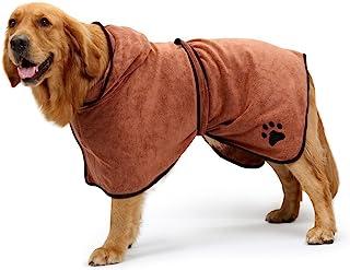 BONAWEN Dog Bathrobe Soft Super Absorbent Luxuriously 100% Microfiber Dog Drying Towel..