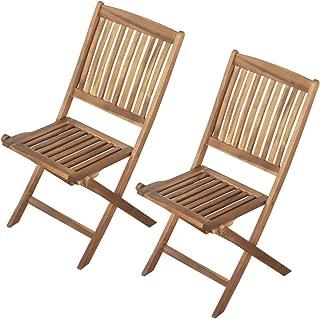 Aktive 61003 Silla de madera para jardín exterior,