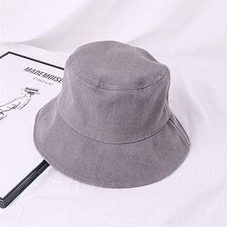 ZiWen Lu Japanese Literary flattened Large Brimmed hat Korean Men and Women Wild Summer Solid Color Cotton hat Visor Basin Cap (Color : Grey, Size : One Size)