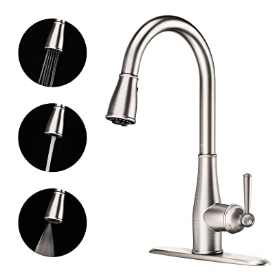 Full Copper Kitchen Faucet - 3 Function Spray S...