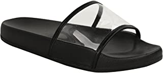 Fashion Thirsty Womens Perspex Strap Sandals Summer Beach Flip Flops Holiday Platforms Shoes
