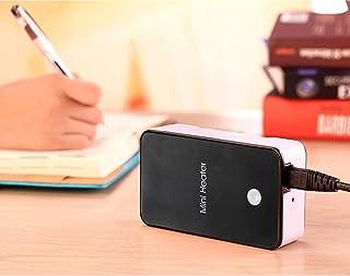 beautyjourney Mini Calefactor Calentador de Ventilador portátil Ventilador eléctrico pequeño Termoventiladores de Escritorio práctico 200W (Talla única, Negro)