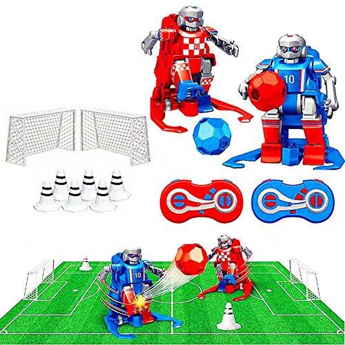Juego de juguetes de control remoto Soccer Robots, Electric Football Robots 2.4GHz RC Soccer Robot Toy Juego de fútbol juguetes, juego interactivo de padres e hijos para niños / niñas de 7 a 14 años