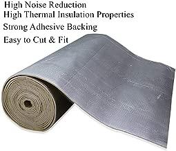 6mm 236mil Sound Deadener Mat Deadening Heat Insulation Mat Noise Insulation and Dampening Mat Heat Proof Mat Fits Car Door Trunk Floor Roof Fender Hood Music Studio Recording, 61'' x 40'' 16.68sqft