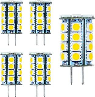 GY6.35 LED Bulbs G6.35 Bi-pin Base LED Light Bulb 5Watt AC DC 12V (10-24V) Warm White 2700k-3000k Landscape Lighting,JC Type, Equivalent 40w T4 gy6.35 Halogen Bulb(5-Pack)