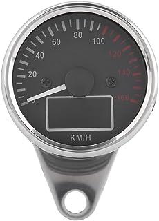 BiuZi Universal 0~160KM Tachimetro moto H GPS moto digitale LED LCD Tachimetro 12V Tachimetro Speed Gauge Retro Nero