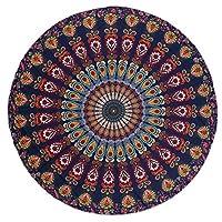 ヨガタオル - マイクロファイバーラウンドビーチタオルマンダラタペストリービーチタオルボヘミアヨガマットスイミングバスタオルシフォンタペストリー壁掛け (Color : #004, Size : Chiffon)