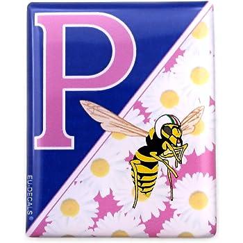 Miovespa Collection 3d Aufkleber Gewölbt Für Die Vorderseite Horncasting Abzeichen Ihrer Vespa Pink Daisies Und Dem Miovespa Logo Für Verschiedene Vespa Modelle Auto