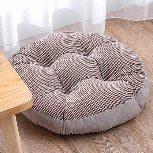 HDKDAS Seat Cushion Chair Cushions Round Seat Cushion-Small Coffee_55*55cm Cushion Pads Seat Pads (Color : 9, Size : 55 * 55cm)