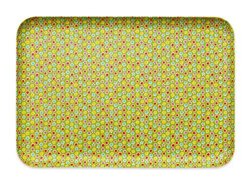 タツクラフト 友禅和紙 トレー L 39cm 桜 金平糖 緑 食洗機対応 トレイ お盆 おしゃれ プラスチック 大 小 大きい 深い 四角 長方形 洋風 和風 和モダン インテリア 白 ランチョンマット 子供用 布 洗える 防水 撥水 子供 給食 国産 和