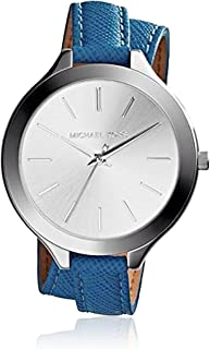 Michael Kors Slim Runway Women's Silver Dial Leather Band Watch - MK2331