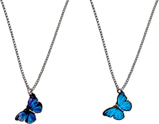 Sterling Silver Butterfly Necklace Silver Butterfly Butterfly Jewelry Boho Pendant Butterfly Pendant Bohemian Pendant Blue Butterfly