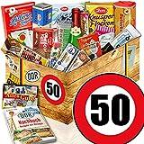 DDR Paket XXL + Suessigkeiten DDR + Zahl 50 + Geburtstags Geschenk Mutter