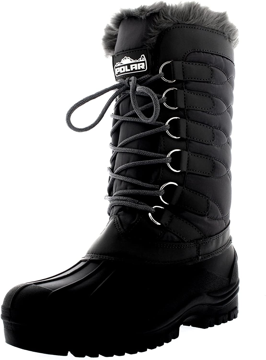 Polar Womens Nylon Cold Weather Outdoor Snow Duck Winter Rain Lace Boot - 9 - GRE40 YC0136