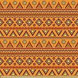 ABAKUHAUS Orange Stoff als Meterware, Ethnische aztekische