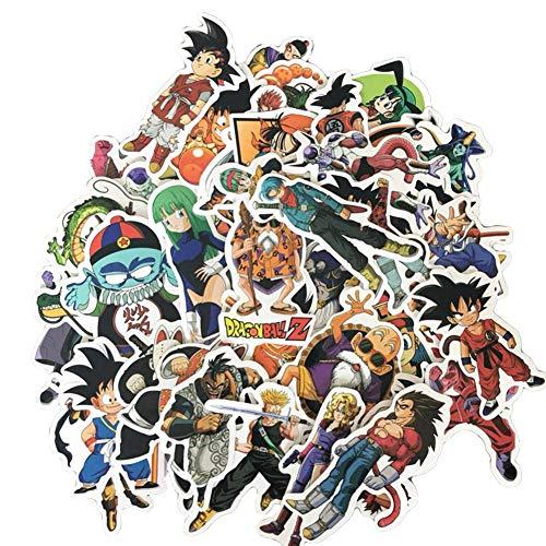 Haushele OFD Anime Aufkleber Koffer Gitarre Sticker Telefon Aufkleber Skateboard Aufkleber Naruto Mein Held Akademie Sailor Moon Nette Katze Doodle Aufkleber (50 Stück Dragon Ball)