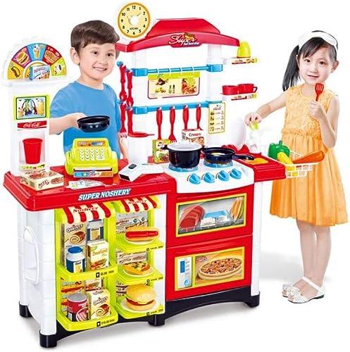 QARYYQ Kinderspielhaus Küche Spielzeug DREI-in-einem EuropäischenKüche Kochset 3 Jahre Alt 6 Jahre Alt Küchenutensilien Spielzeug
