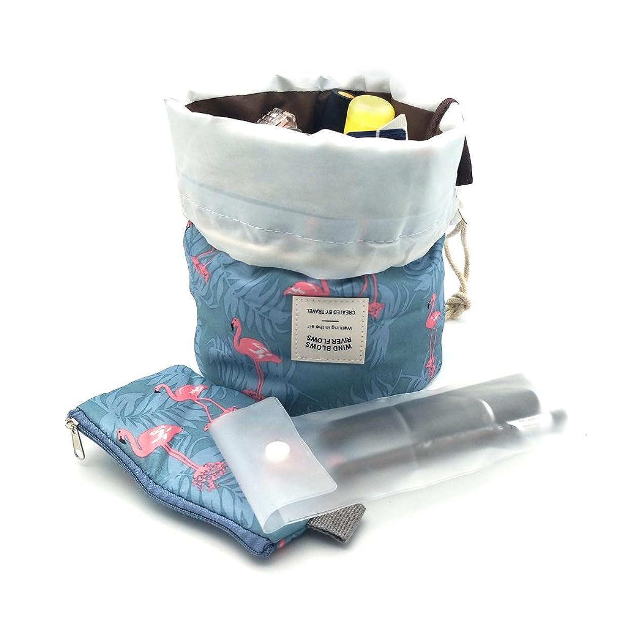 蒸留ディスク慰めDuwee かわいい 多機能 多容量 化粧ポーチ メイクポーチ 化粧ポーチ トラベルポーチ (Blue)
